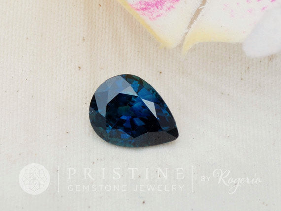 Ceylon Blue Sapphire Pear Shape 2.36 Carats September Birthstone