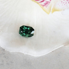 radiant cut blue green sapphire for engagement ring
