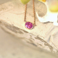 pink sapphire layering necklace