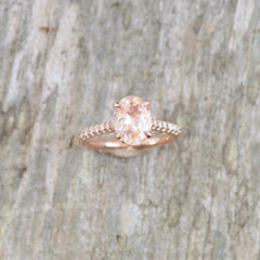 rose gold diamond accented semi mount