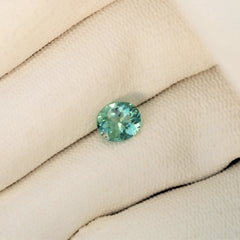 Paraiba Type Tourmaline Oval Mint Color Precision Cut Loose Gemstone by Rogerio Graca
