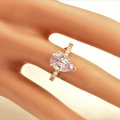 Pear Lavender Pink Champagne Sapphire Blake Lively Engagement Ring