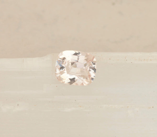 Not Heat Treated 2.5ct Pink Peach Sapphire Cushion Shape