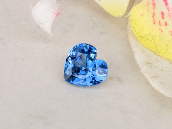Heart Shape Blue Sapphire Fine Quality for Engagement Ring