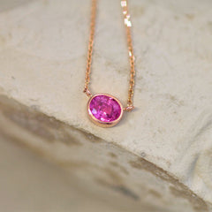 rose gold pink sapphire jewelry