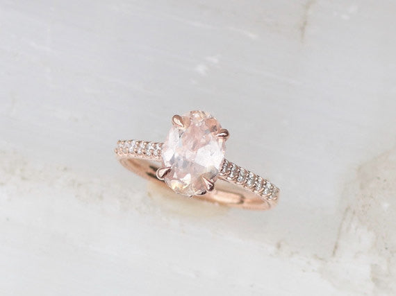 Rose Gold Engagement Ring Blake Lively Engagement Semi Mount Also Available in Other Gold Colors
