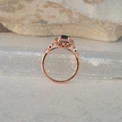 Gold Vintage Design Semi Mount For Custom Gemstone Ring Main Stone Separately