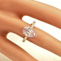 pear shape lavender pink sapphire in blake lively engagement ring design