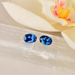 blue sapphire for earrings