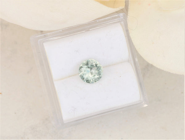 Round Green Sapphire 6.5 MM Mint sapphire for Jewellery