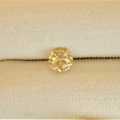 Peach Yellow Sapphire Precision Cut Round Shape for Jewellery