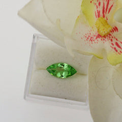 natural green garnet marquis