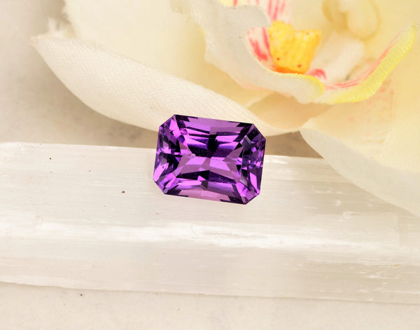 Radiant Cut Amethyst February Birthstone