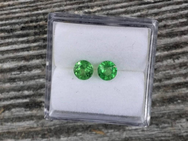 Tsavorite Garnet Round Matching Pair 0.91cts Total Weight