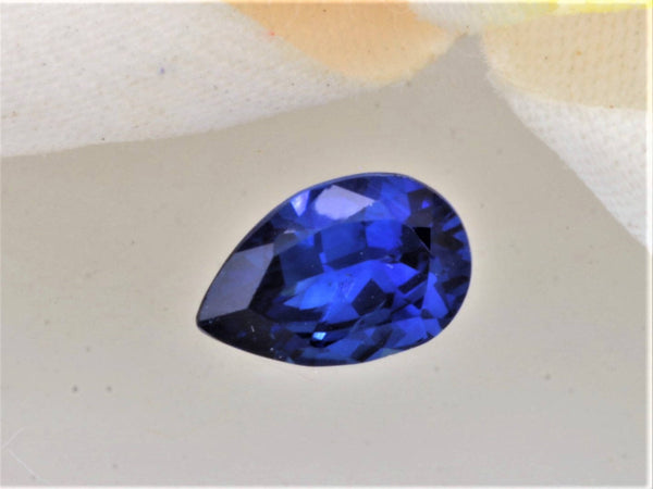 RESERVED Royal Blue Sapphire September Birthstone 7.8 x 5 MM Pear Shape
