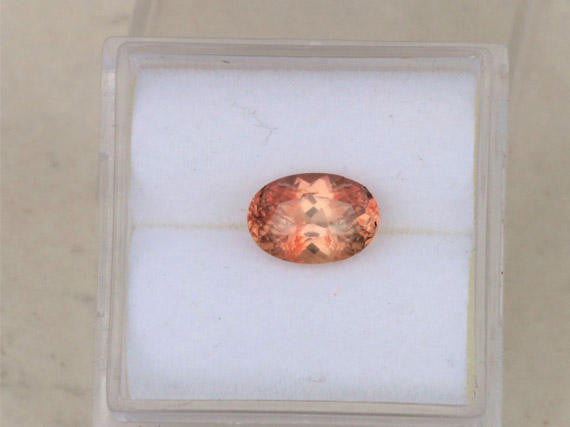 Padparadscha Color Oval 1.53 CTS Sapphire September Birthstone