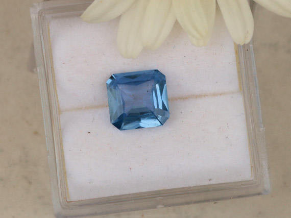 Blue Sapphire 6.8 x 6.6 MM Precision Cut Modified Radiant Cut