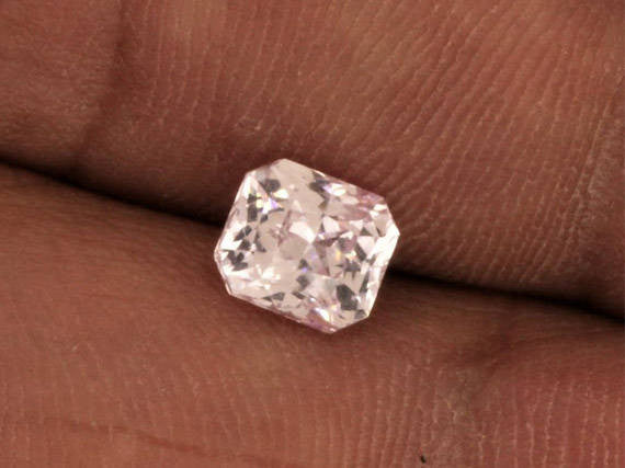 RESERVED Pink Sapphire Radiant Cut 1.66 Carats September Birthstone