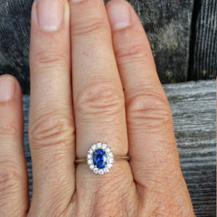 Kate Middleton Blue Sapphire Ring Look Alike