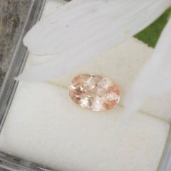 RESERVED Pink Peach Ceylon Sapphire 7 x 4.8 MM Oval September Birthstone