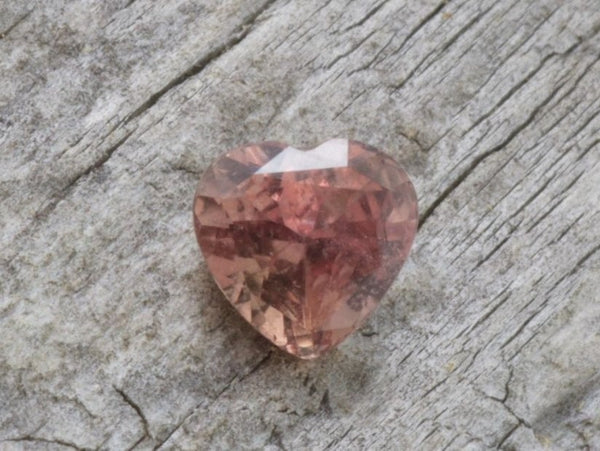 Heart Shape Padparadscha Color Sapphire 6.5 MM