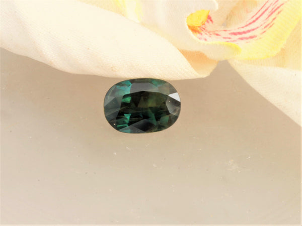 Natural Blue Green Sapphire 10.7 x 7.6 MM Oval September Birthstone 2.40 Cts