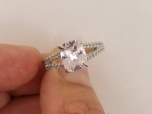 Split Shank Ring Design Made to Order You Choose Center Stone