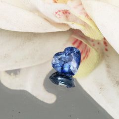 heart shape color change blue sapphire