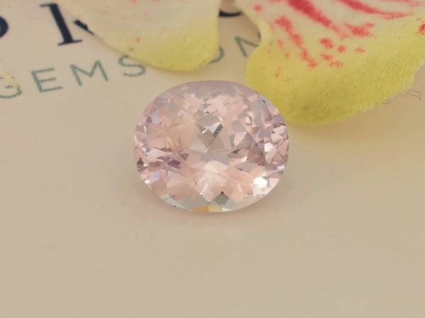 RESERVED Pastel Pink Sapphire Oval 3.11cts