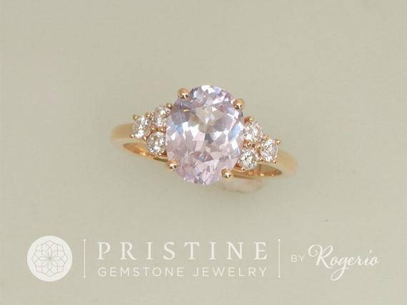 Classic Diamond Accented Ring Semi-Mount Main Stone Sold Separately
