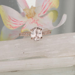 Champagne Pink Sapphire Rose Gold Ring