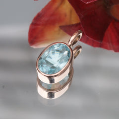 14k rose gold aquamarine