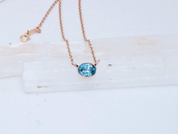 Zircon Rose Gold Dainty Layering Necklace