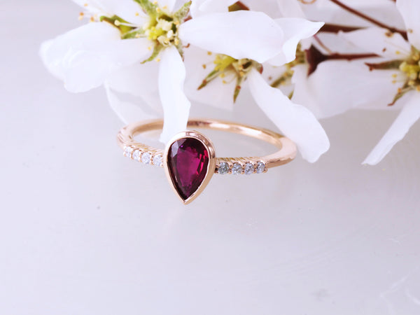 ruby rose gold wedding ring