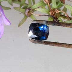 medium dark cushion sapphire
