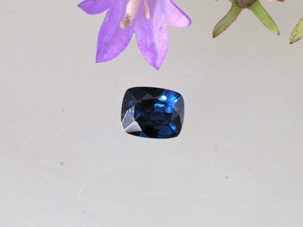 Cushion Blue Sapphire Precision Cut 1.38cts Antique Cushion
