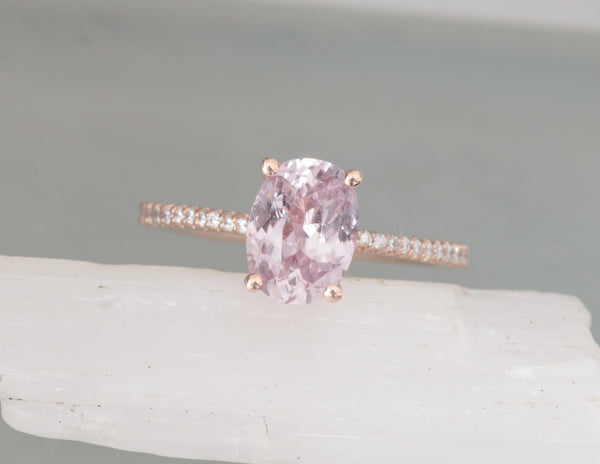 Blake Lively Inspired 1.98ct Pink Sapphire Rose Gold Ring