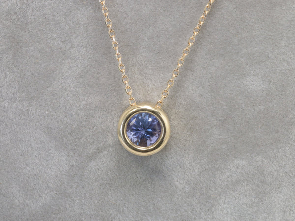 tanzanite layering necklace