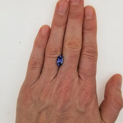 Antique Cushion Blue Sapphire 2.40cts