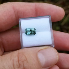 Blue Green Sapphire Radiant Cut 1.57cts