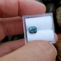 Teal Sapphire Radiant Cut 1.52cts