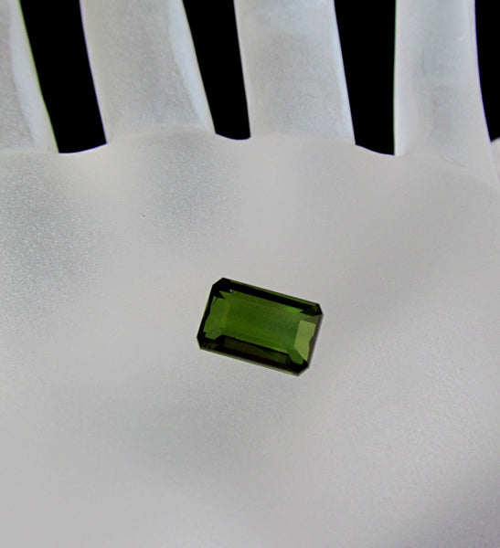 Emerald Cut Green Tourmaline 2.71 cts Loose Gemstone for Fine Jewelry Ring or Pendant October Birthstone