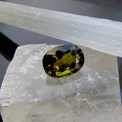 Unique Natural Tourmaline  Loose Gemstone Oval Shape Over 7 Carats for Jewelry October Birthstone