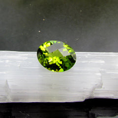 natural oval peridot