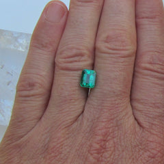 Emerald Medium Dark 1.70 Carats Emerald Cut Shape 7.3 x 5.8 MM May Birthstone