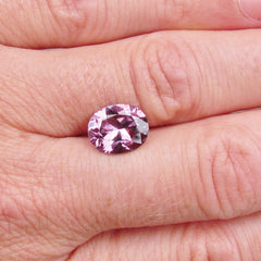 Pink Purplish Spinel Oval  Fine Loose Gemstone for Engagement Ring Anniversary Ring Morganite Alternative