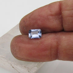 natural emerald cut blue sapphire shape