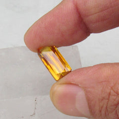 Emerald Cut Yellow Sapphire for Custom Gemstone Jewelry Loose Gemstone Over 6cts