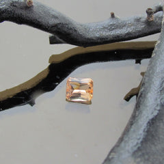 Imperial Topaz  Modified Radiant  Emerald Cut Shape Loose Faceted Gemstone for Fine Gemstone Jewelry Engagement Ring