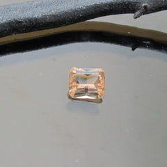 Radiant Cut Peach Color Imperial Topaz Loose Gemstone for Custom Fine Jewelry